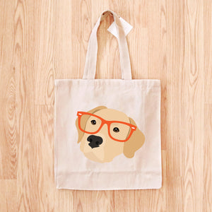 Labrador Retriever with Glasses Tote Bag