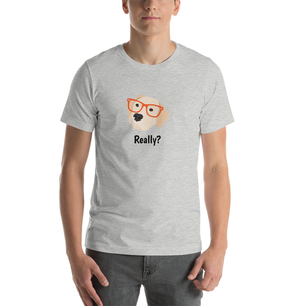 Labrador Retriever with Glasses Men's T-Shirt