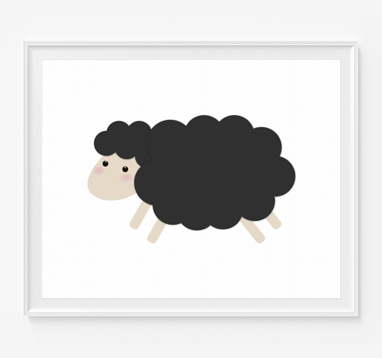 Little Black Sheep Art Print