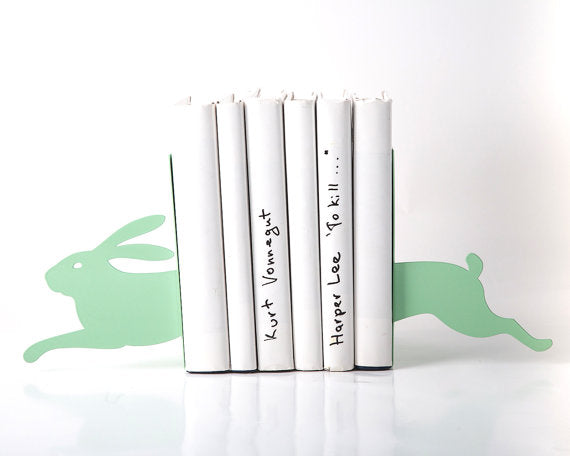 Running Bunny (Mint) Bookends