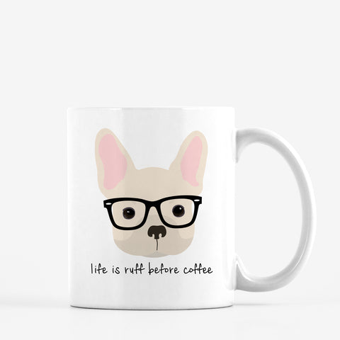 French Bulldog with Glasses Mug