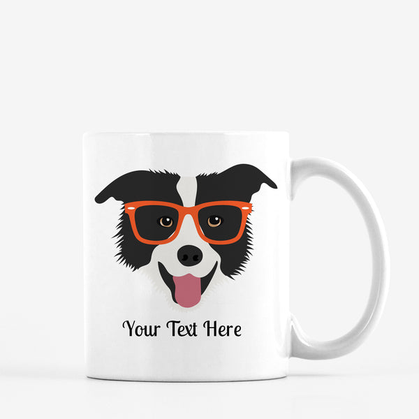 Border Collie with Glasses Mug