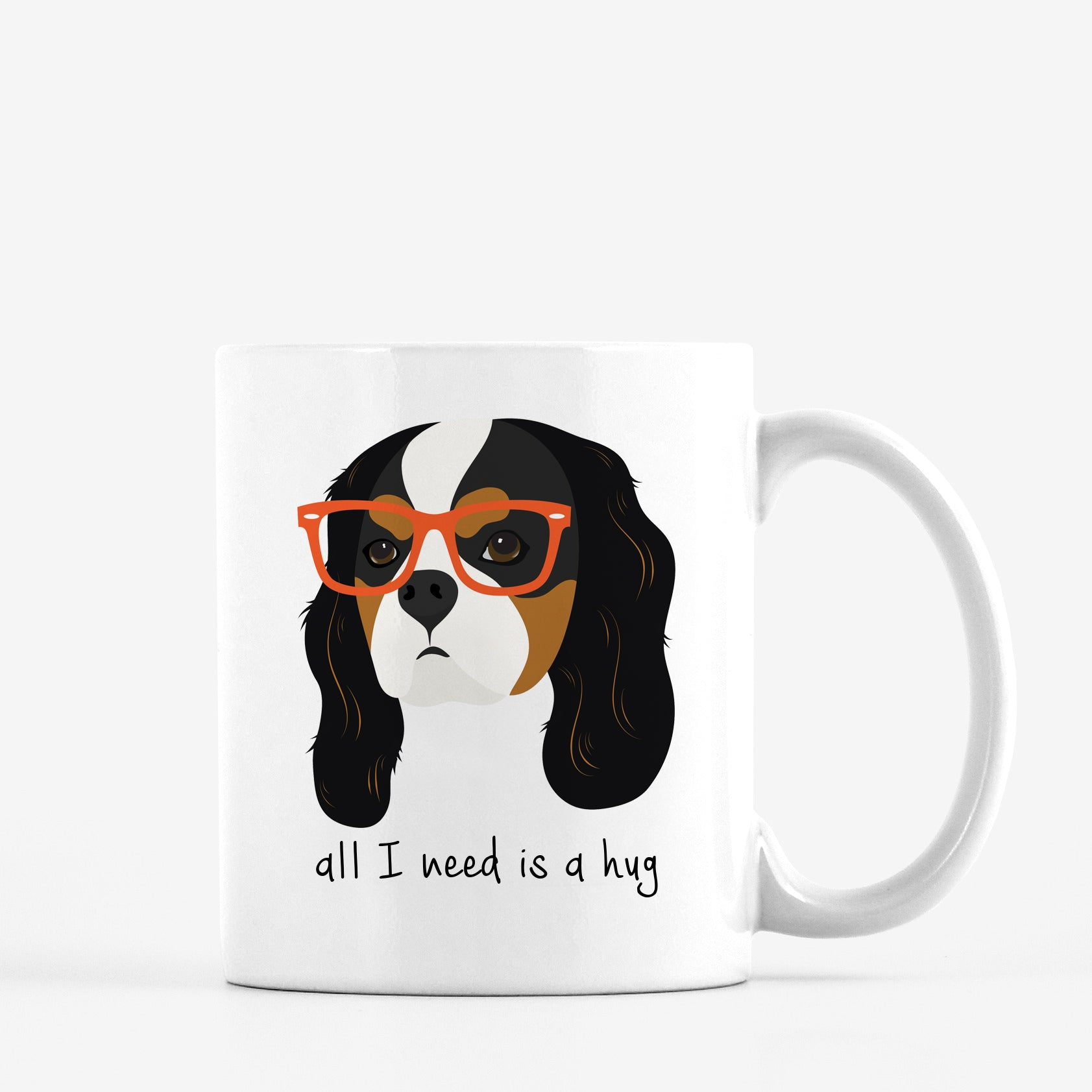 Cavalier King Charles Spaniel with Glasses Mug
