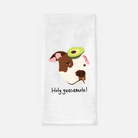 Pit Bull with Avocado Tea Towel