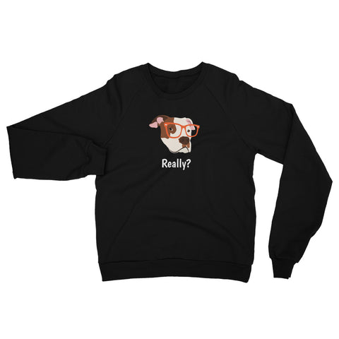 Pit Bull with Glasses Women's Sweatshirt