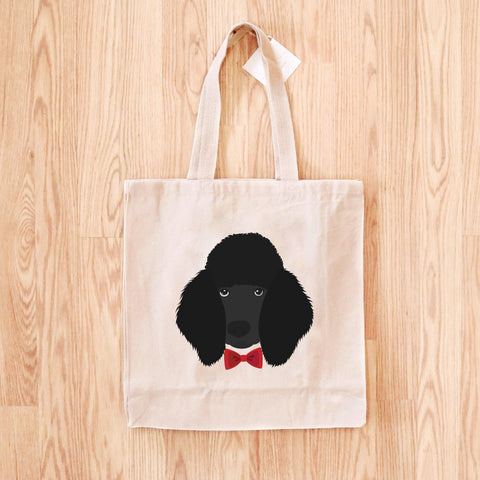 Poodle with Bow Tie Tote Bag