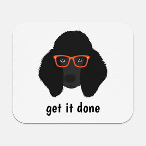 Poodle with Glasses Mouse Pad