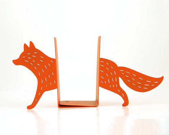 Reading Fox Bookends