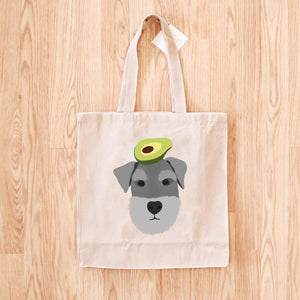 Schnauzer with Avocado Tote Bag