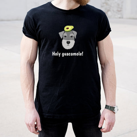 Schnauzer with Avocado Men's T-Shirt