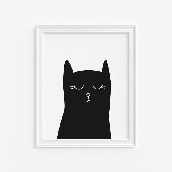 Sleepy Cat Art Print