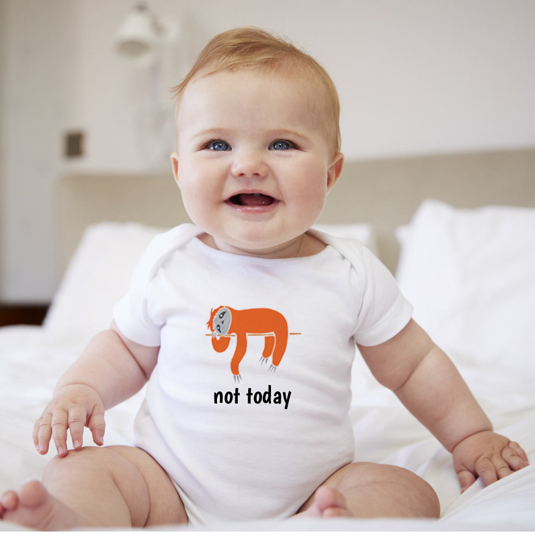 Personalized Sloth Baby Bodysuit