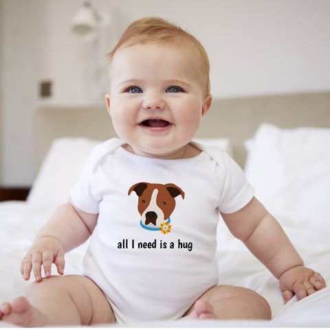 Personalized Staffordshire Terrier Baby Bodysuit