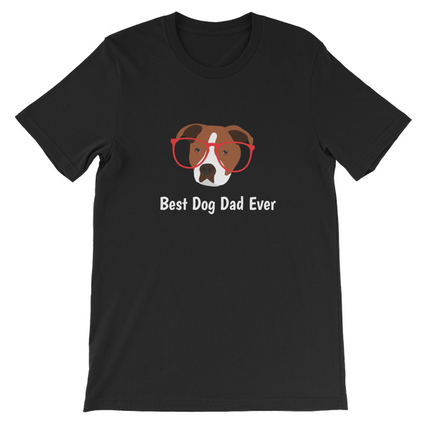 Staffordshire Terrier with Glasses Men's T-Shirt