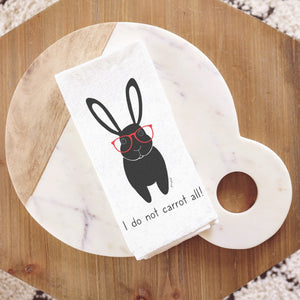 Bunny Tea Towel (I do not carrot all!)