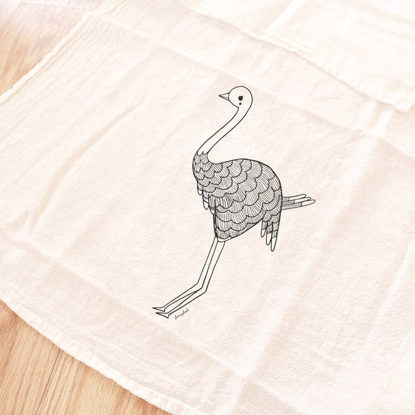Ostrich Tea Towel