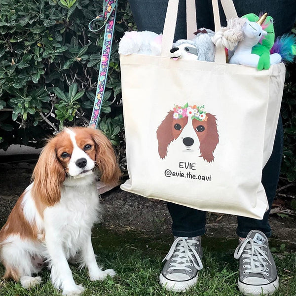 Custom Dog Tote Bag
