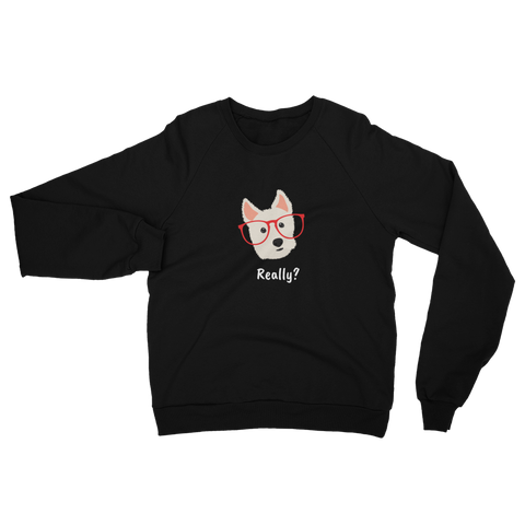 West Highland White Terrier with Glasses Women's Sweatshirt
