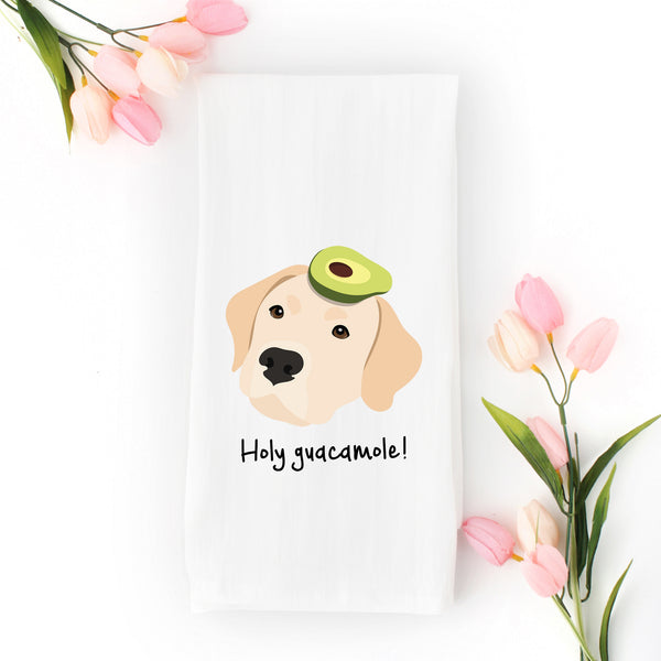 Yellow Lab with Avocado Tea Towel