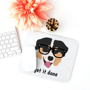 Australian Shepherd with Glasses Mouse Pad