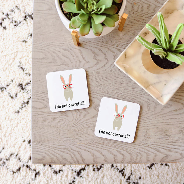Bunny with Glasses Coasters
