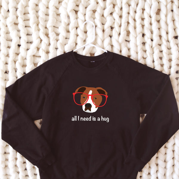 Staffordshire Terrier with Glasses Women's Sweatshirt