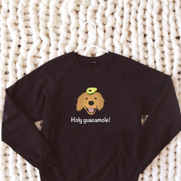 Golden Retriever with Avocado Women's Sweatshirt