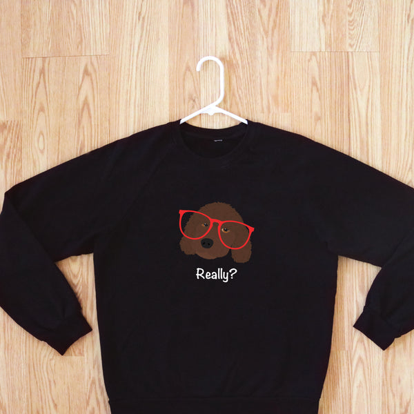 Labradoodle with Glasses Women's Sweatshirt