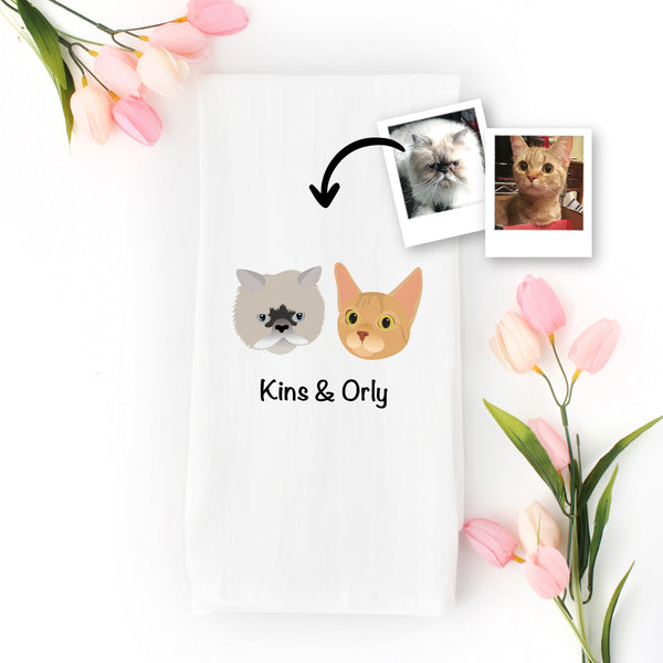Custom Cat Tea Towel