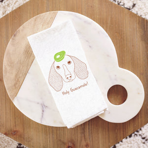Dachshund with Avocado Tea Towel