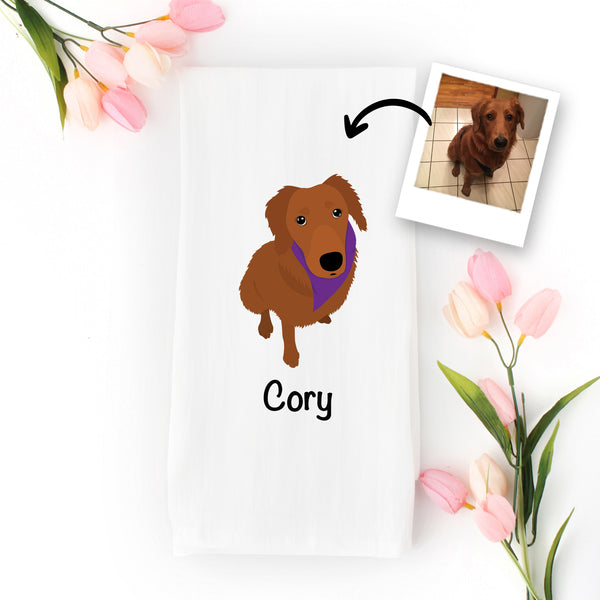 Dog Tea Towel - use my existing design