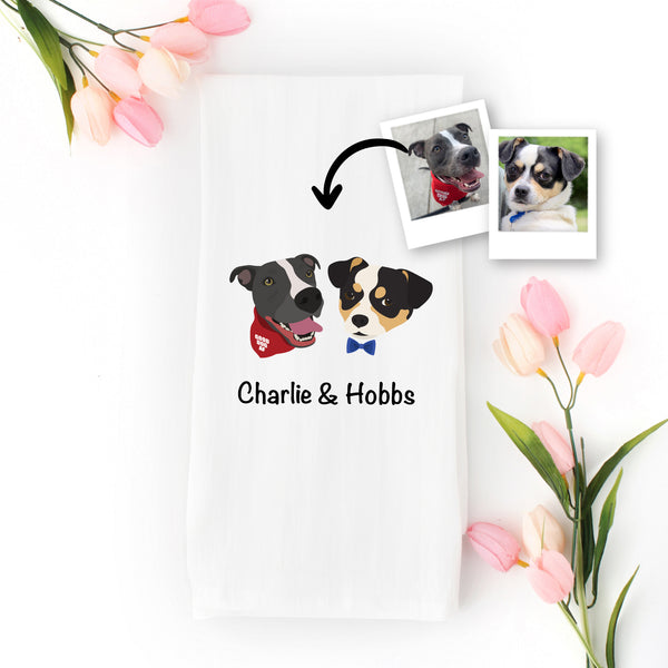 Custom Dog Tea Towel