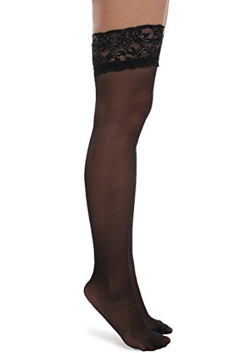 Avidlove Womens Socks Hosiery Reflections Tights Lace Top Sheer 20 Denier Stockings