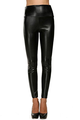 Avidlove Women Faux Leather High Waist Leggings Skinny Pencil Pants Thick