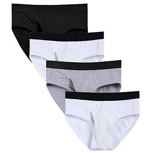 Avidlove Men's Underwear Classic Basic Briefs 4 Packs
