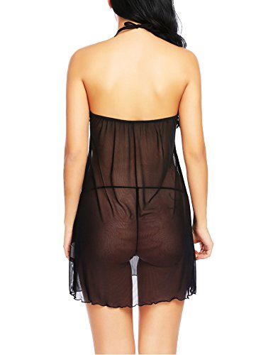 Avidlove Women Lace Lingerie Halter Babydoll Backless Sleepwear