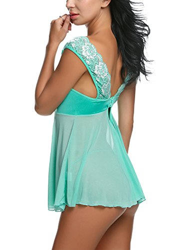 Avidlove Lace Babydoll Lingerie Mesh Chemises Sexy Outfits Nightwear and G-String