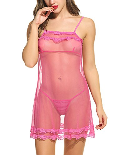 Avidlove Women Sexy Lace Babydoll Lingerie Sleepwear Mesh Chemises Outfit