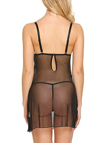 Avidlove Sexy Lingerie Womens Push Up Babdyoll Underwire Chemise Nightgown