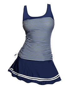 Avidlove Women's Striped Tankini Set Two Piece Padded Swimsuits