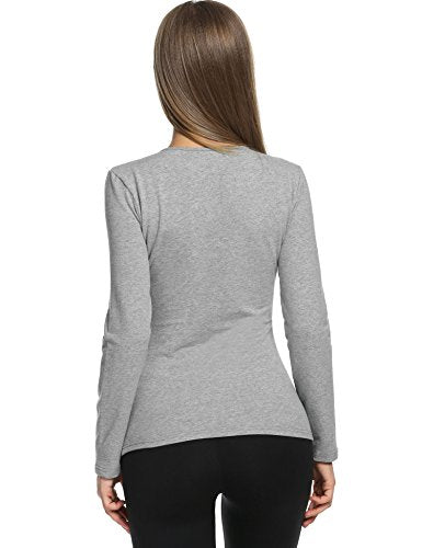 Avidlove Womens Wicking Thermal Winter Shirt Crew Fleece lined Tops Underwear Shirt