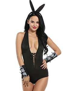 Avidlove Women Sexy Teddy Lingerie Halter One Piece Bodysuit Role Play 3 Pcs