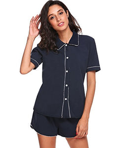 Avidlove Womens Short Sleeve Pajama Set Sleepwear Nightwear