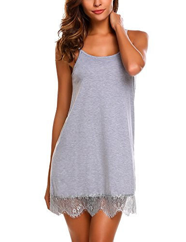 Avidlove Sleepwear Womens Chemise Sexy Lingerie Full Slip Lace Babydoll Dress