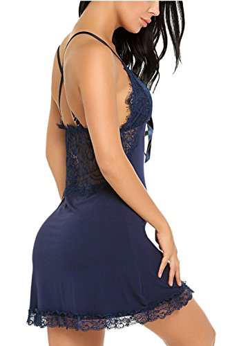 Avidlove Women Sexy Chemise Nighty Lace Nightgown Lingerie Full Slip Dress