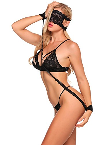 Avidlove Lingerie Four Piece Bra Lace Set for Women Babydoll Underwear