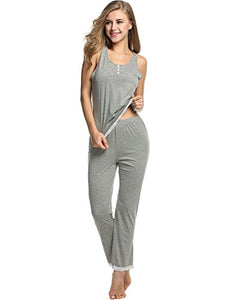 Avidlove Womens Sexy Lightweight PJs Pajamas Set with Tank Lace Sleepwear