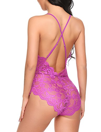 Avidlove Women Teddy Lingerie One Piece Babydoll Mini Bodysuit