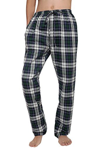 Avidlove Men Sleep Bottoms Cotton Plaid Sleepwear Flannel Lounge Pants