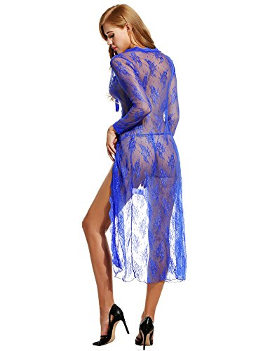Avidlove Sexy Lingerie Gown Long Lace Nighdress See Through Nightgown